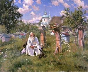 01-aleksandr-makovsky-by-the-beehives-1916