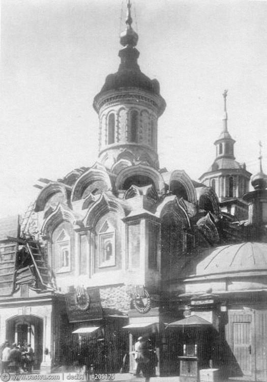реставрация 1928-1929 Барановским и открытие кокошников